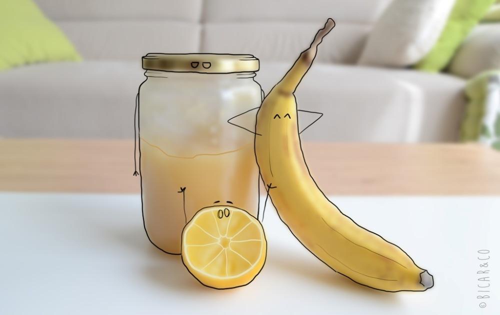 masque maison à la banane