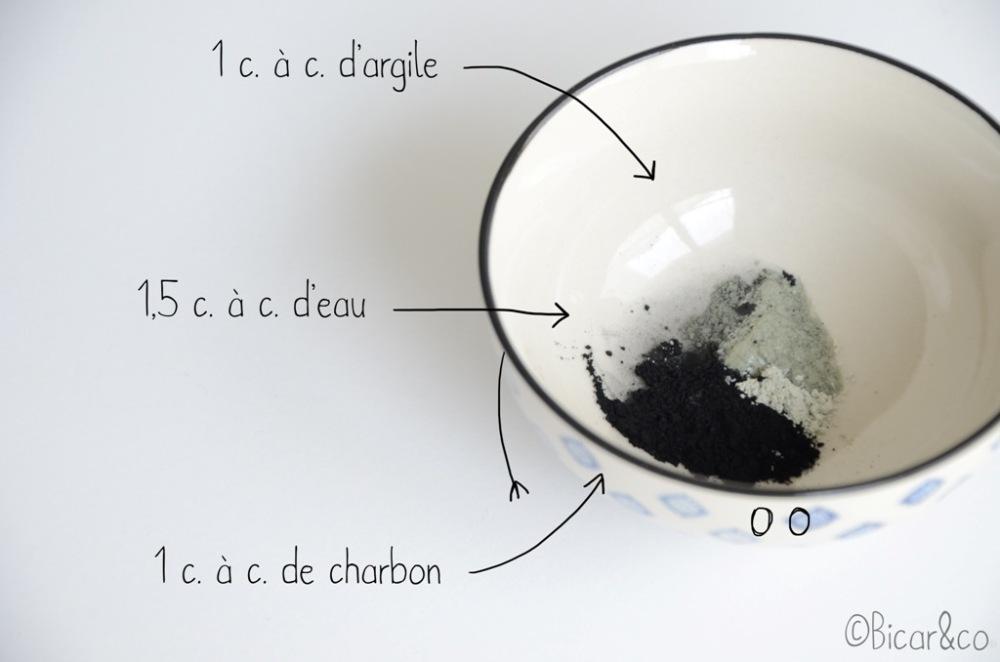 masque au charbon contre les points noirs